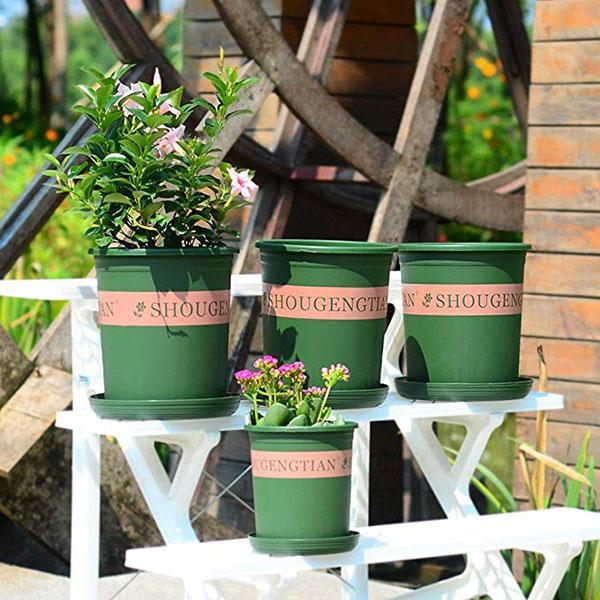 5 Gallon Durable Nursery Pot/Garden Planter Pots/Nursery Plant Container with Pallet