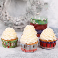 100pcs/set Cut Christmas Birthday Cake Decorating Tools Paper Muffin Cupcake Baking Cups