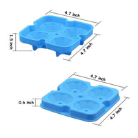 Creative 4 Holes Diamond Silicone Mold Ice Cube Maker Mold Tray Diamond Ice Box for Whisky Cocktails Iced Coffee Cold Drinks Party Bar DTY