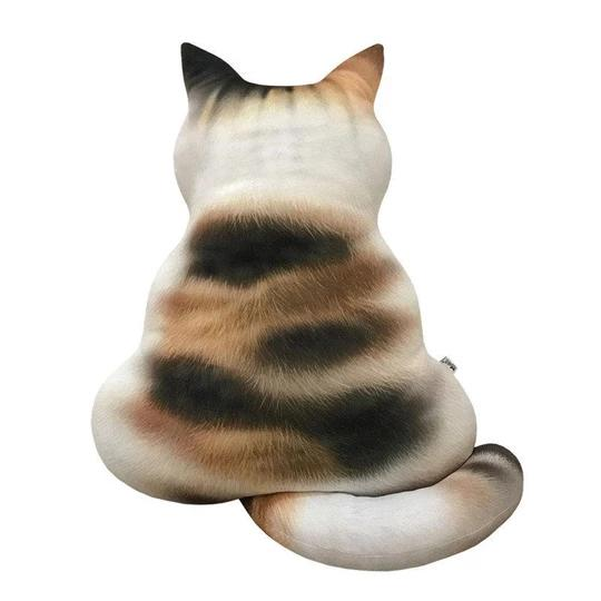 3D Printed Cat Back Cushion Plush Toy Gift Simulation Cat Pillow