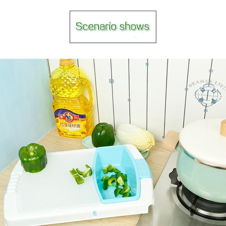 Creative Extendable and Split Type Fruit Cutting Board Vegetables Drain Basket