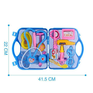 14pcs Doctor Play Toys Set Doctora Juguetes for Child Medical Kit Educational Box Light Role Pretend Classic Gift