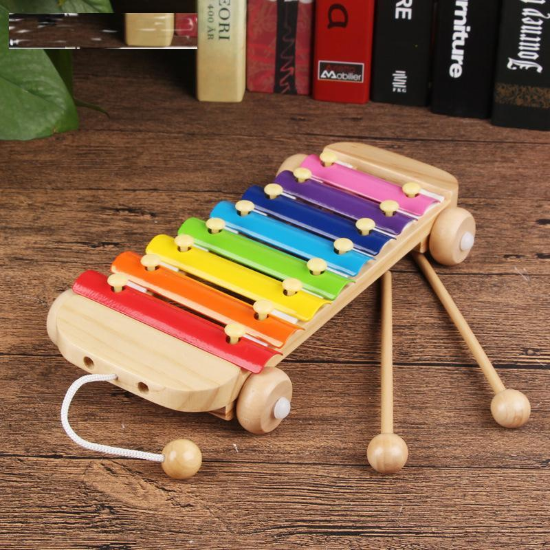 Wooden Musical Instrument Early Childhood Educational Music Baby Tambourine Learning Toys