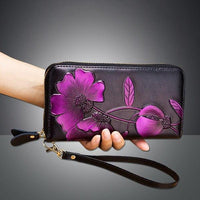 New Wallet Leather Zipper Wallet