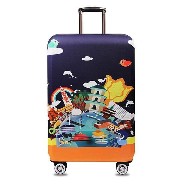 Thickened Travel Luggage Cover Elastic Spandex Suitcase Cover Durable Suitcase Protector