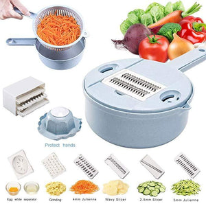 Kitchen Multipurpose Grater,10 in 1 Vegetable Spiralizer Cutter and Shredder