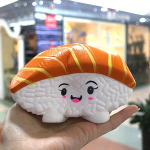 Squishyfun Tuna Salmon Sushi Squishy Jumbo 14cm Slow Rising Original Packaging Collection Gift Decor