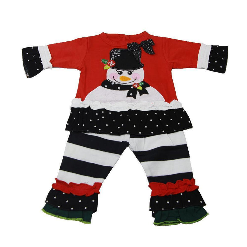 Cotton Long Sleeves Baby Doll Children Suits Boys Pajamas Christmas Girls Clothing Sets Clothes