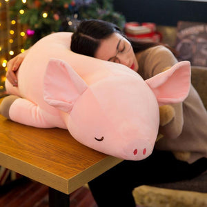 Cute Pink Pig Pillow Decor Plush Toy Soft Cotton House Decor Child Fun Toy Gift 4 Size