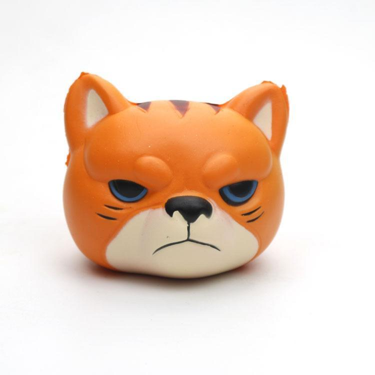 Tiger Simulation Squishy Toy PU Slow Rebound Foam Tiger Head