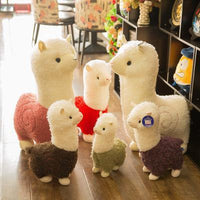 Cartoon Alpaca Plush Doll Toy Fabric Sheep Soft Stuffed Animal Plush Llama Yamma Child Baby Gift