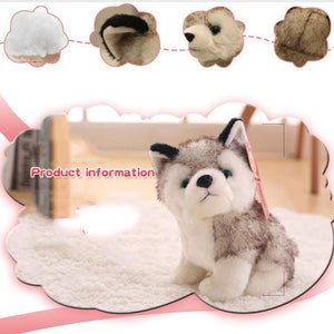 Hot Sale Lovely Simulation Animal Doll Plush Simulation Husky Dog
