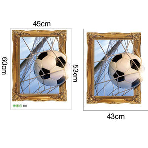 3D Creative Wall Sticker Vivid Soccer Football World Cup