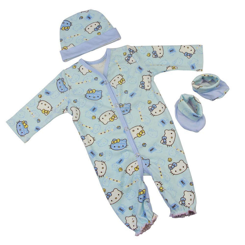 1 Set Baby Doll Printing Pajamas Fit 22-23 inch Reborn Doll