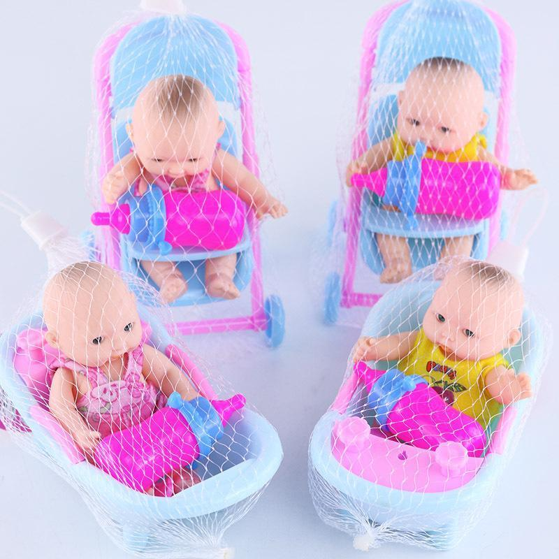 Simulated Vinyl Enamel Sleeping Baby  Bath Housekeeping Pacifying Baby Dolls
