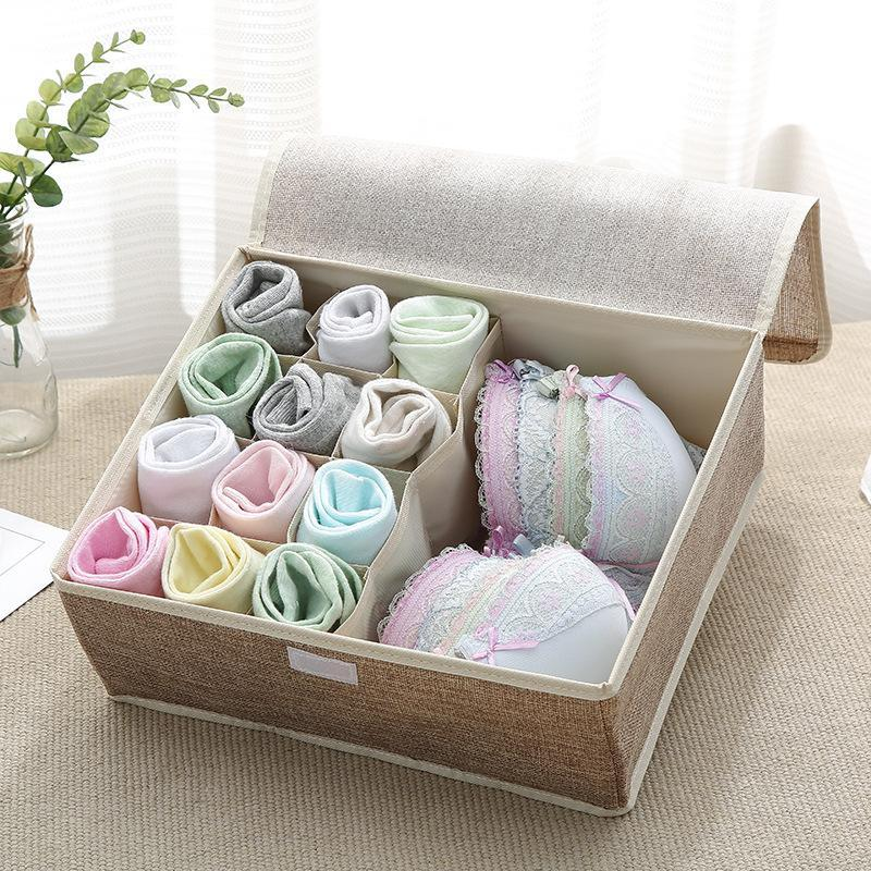 Underwear Socks Storage Container Closet Divider Box Two-in-one Storage Box
