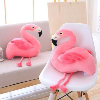 Cute Short Plush PP Cotton Pink Flamingo Doll Doll Plush Toy Girl Decoration Living Room Bedroom Shooting Background
