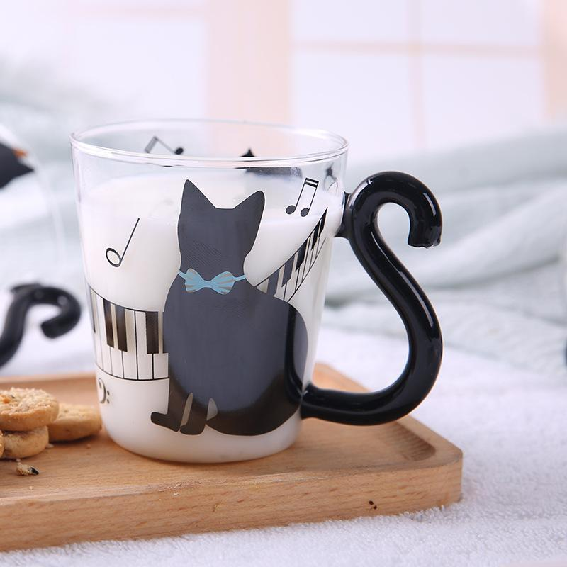 Creative Cartoon Cat Cup Handle Coffee Juice Drink Cup