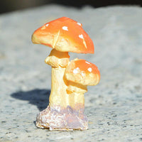 Mini Mushroom Toadstool Garden Ornaments Ideal for Plant Pots Fairy Garden Decoration