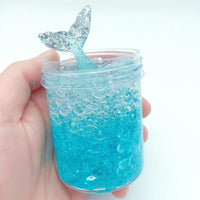 60/120 ML Slime Mermaid Fishtail Crystal Mud Hot Sale Decompression Toy