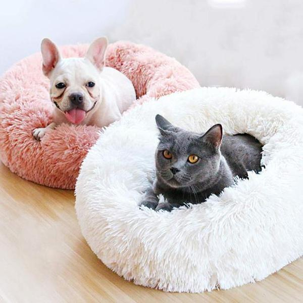 Deep Sleep Kennel Cat Litter Round Plush Nest Cat Mattress Dogs Bed