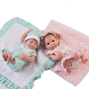 Lifelike Baby Mini Full Silicone Reborn Bath Baby Doll Xmas Gift Girl or Boy