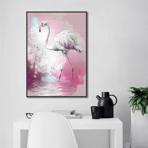 Modern Watercolor Hand-painted Flamingo Living Room Home Decorative Paintings