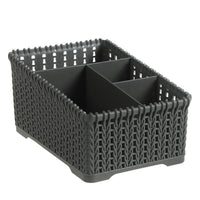 Four Grid Storage Boxes Office Plastic Storage Box Desktop Finishing Box Cosmetics Debris Case Makeup Organizer Boxes