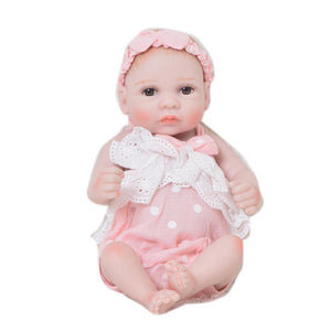 Lovely Reborn Lifelike Baby Doll Toy Girl Pink Soft Silicone Vinyl Handmade