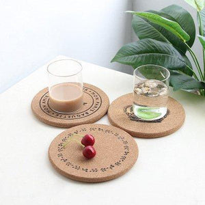 Round Wooden Cup Mat Heat Insulation Mat Table and Bowl Mat