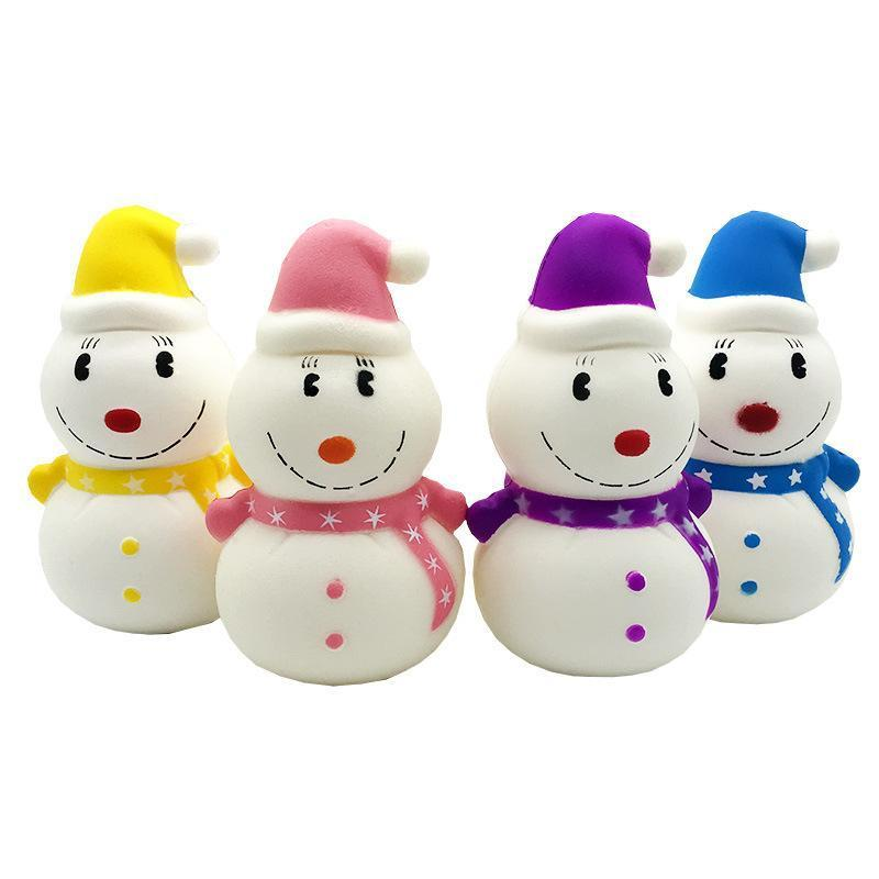 Squishy Simulation  Snowman Christmas Slow Rising Kawaii Scented Toys