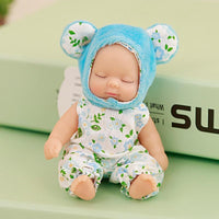 Cute Sleeping Baby Doll Key Chain Car Key Ring Women Key Holder Bag Pendant
