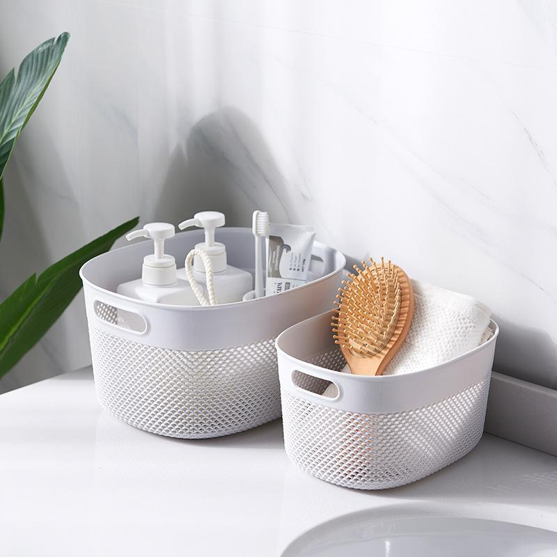 Storage Basket Plastic Storage Baskets Organizer Desktop Bins Organizer with Little Handles