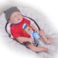 Reborn Babies Full Silicone Vinyl Lifelike Boy Body Baby Dolls with Closed Eyes Kids Sleeping Toy