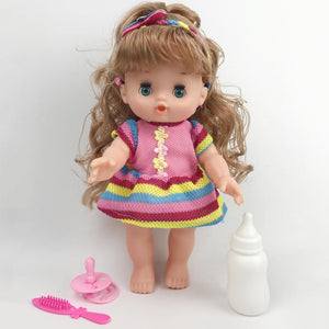 Vinyl Stuffed Baby Doll Children Toy Simulation Baby Doll