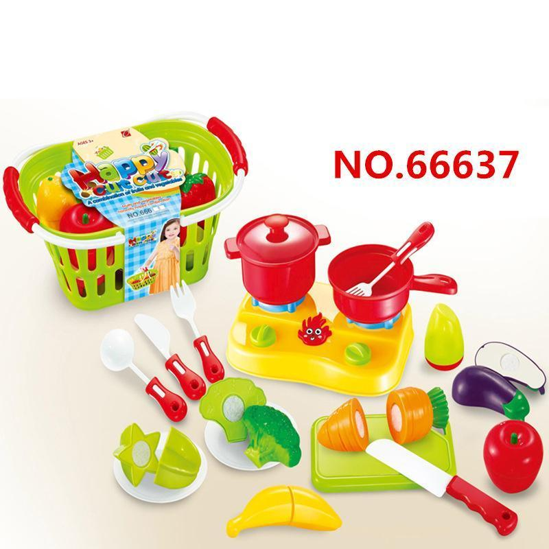 Children Pretend Role Play Toy Mini Happy Cut Fruit