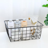 Iron Art Storage Basket Kitchen Bedroom Sundries Snacks Organizer Basket Household Accessories