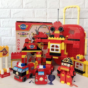 Hot Selling Children's Building Blocks Luggage DIY Building Blocks Puzzle Toys