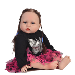 55cm Silicone Reborn Baby Doll Kids Playmate 22 Inch Baby Soft Toys