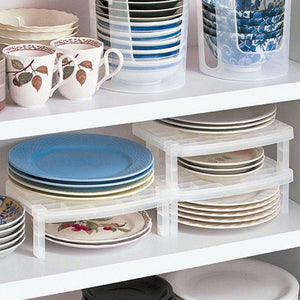 The Dishes Stacking Racks Draining Rack Quality Kitchen Storage Plastic Single Sideboard