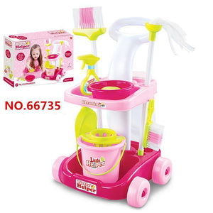 Children Pretend Role Play Toy Mini Home Cleaning Tools