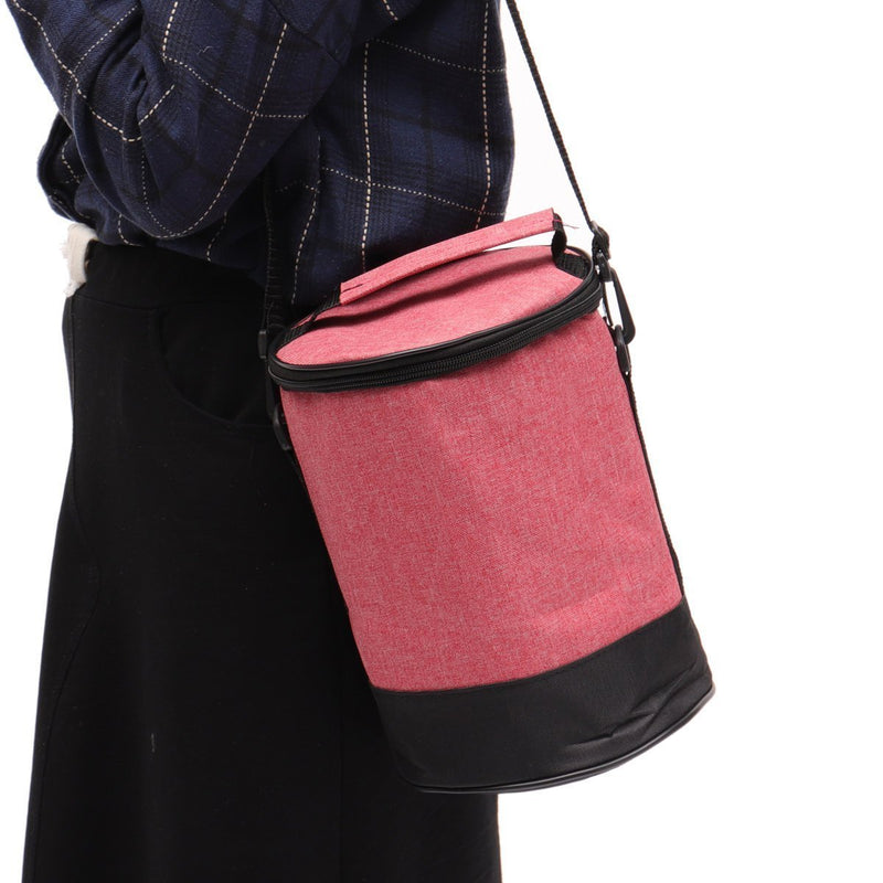 Portable Lunch Tote Bag Cooler Insulated Handbag Zipper Storage Containers Lunch Box Shoulder Bag