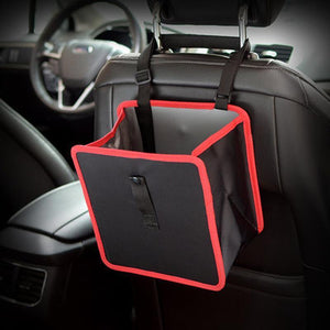 Delicate Car Garbage Can Car Trash Hanging Basket Rubbish Organizers Storage Bag Holder Box