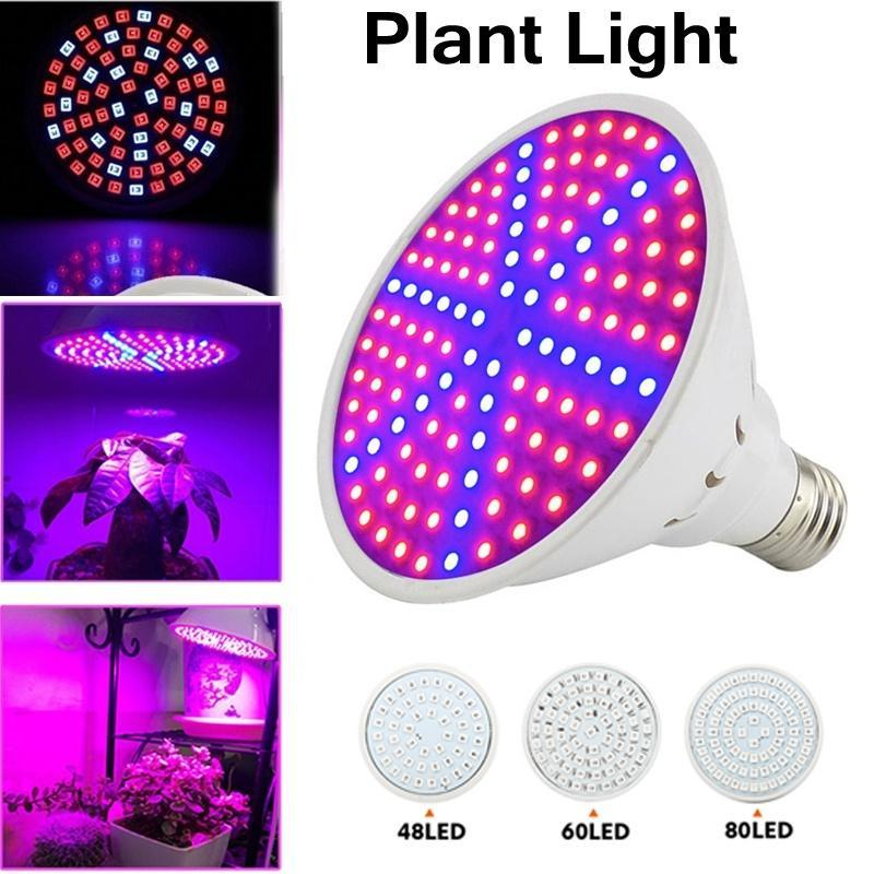 E27 E14 LED Indoor Full Spectrum Hydroponic Plant Growing Light Bulb