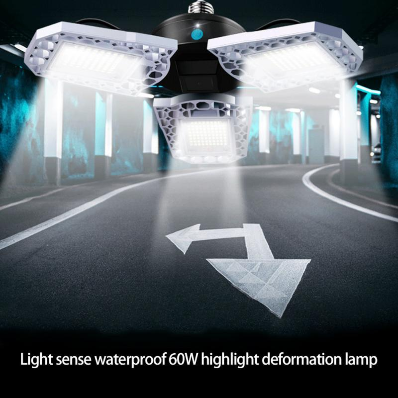 Super Bright E26 60W/80W/100W LED High Bay Light Garage Lamp Waterproof IP65 Industrial Lighting 6000K/3000K for Warehouses
