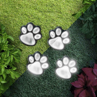 Solar-Powered LED Dog Paw Lights (Pack of 4)
