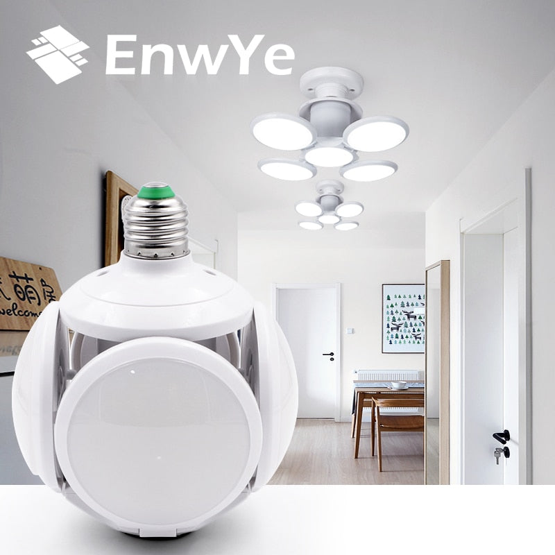 EnwYe Super bright LED folding bulb E27 40W LED light football UFO lamp AC 85-265V LED Bulb Christmas gifts for children Holiday
