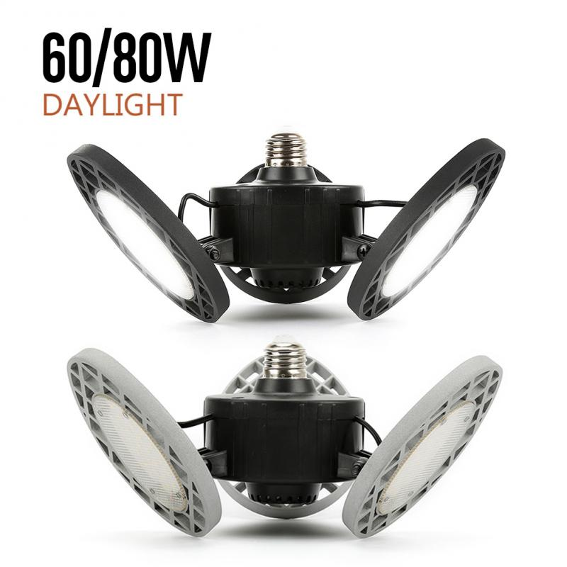 Professional E26 144LED Garage Light Ceiling Lamp Deformation 3 Blades Trilight Industrial Lighting Lamp Used For Workshop Light