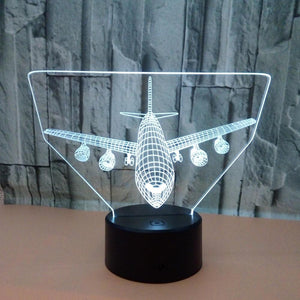 Air plane 3D Illusion Lamp