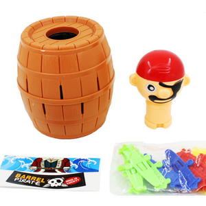 New Hot Kids Children Funny Lucky Stab Pop Up Toy Gadget Pirate Barrel Game Toy